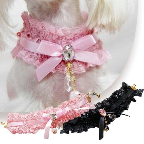 hermoso collar para mascotas en color rosado - lima norte
