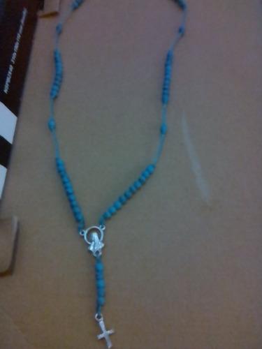 hermoso collar, rosario crucifijo