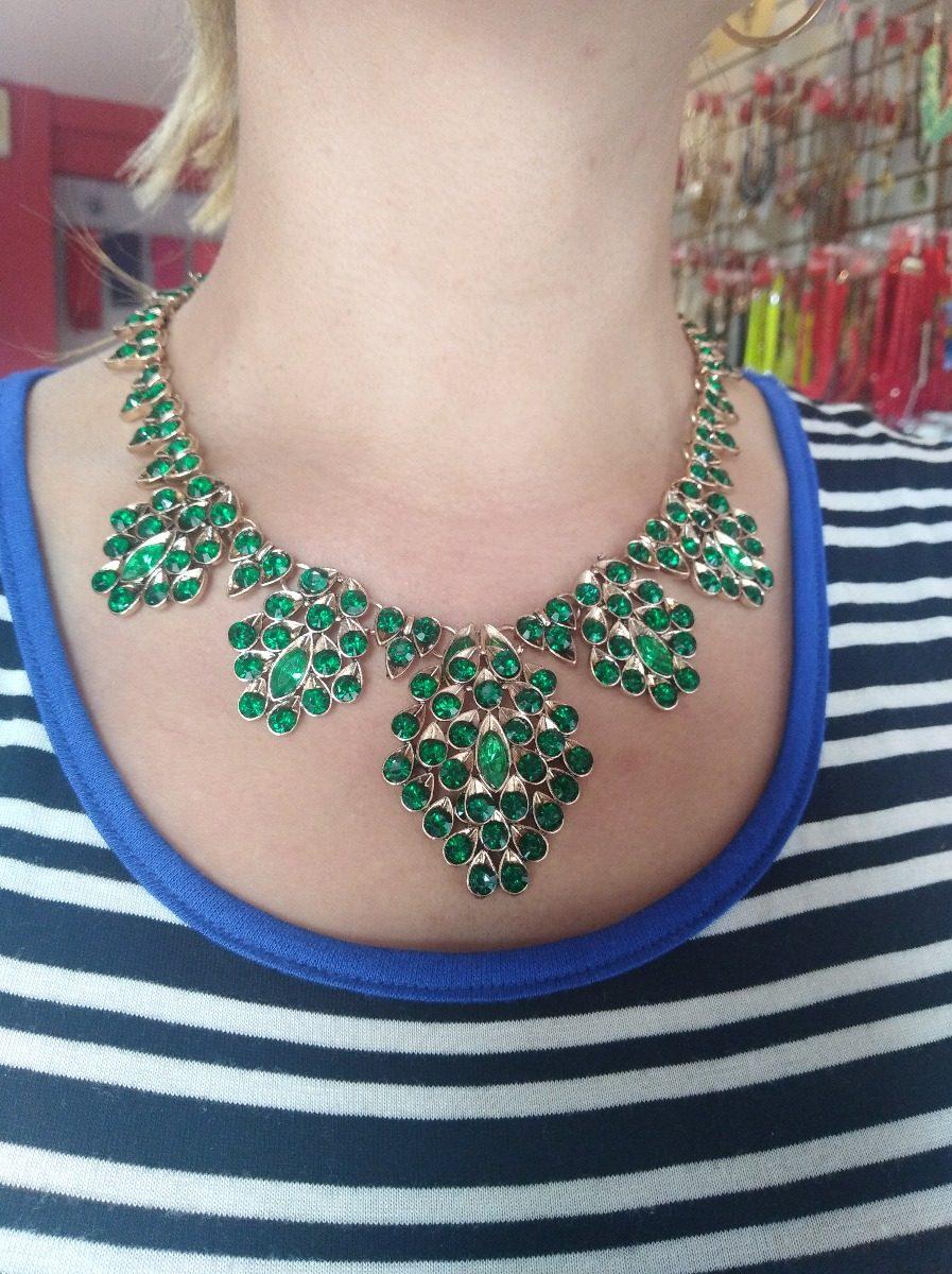 44348f5014c0 hermoso collar verde con dorado fiesta boda envio gratis. Cargando zoom.