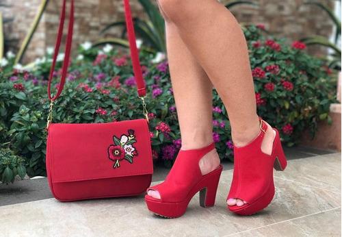 hermoso combo de plataformas+ bolso mujer calidad colombiana