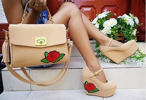 hermoso combo de sandalias plataformas mujer calidad colomb