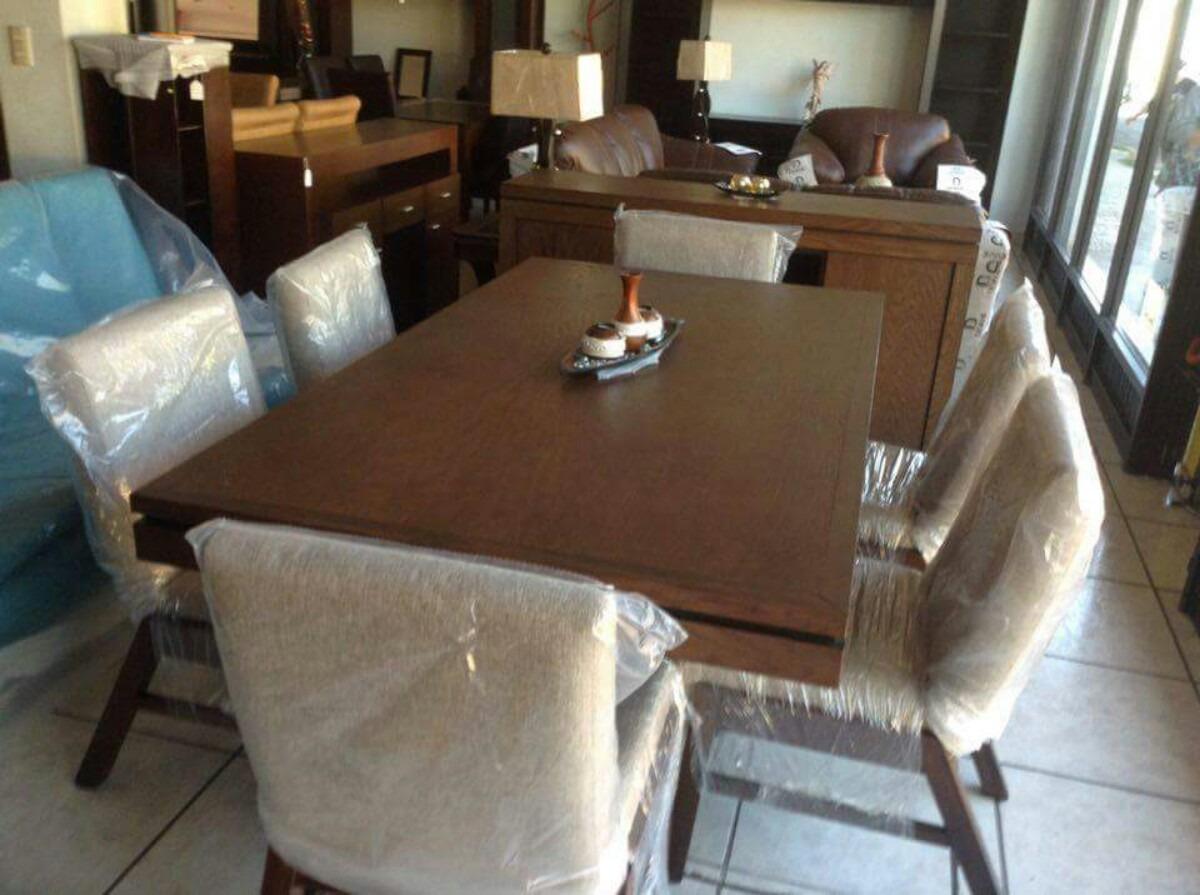Hermoso comedor con trinchador 6 sillas lujoso oferta for Sillas oferta comedor