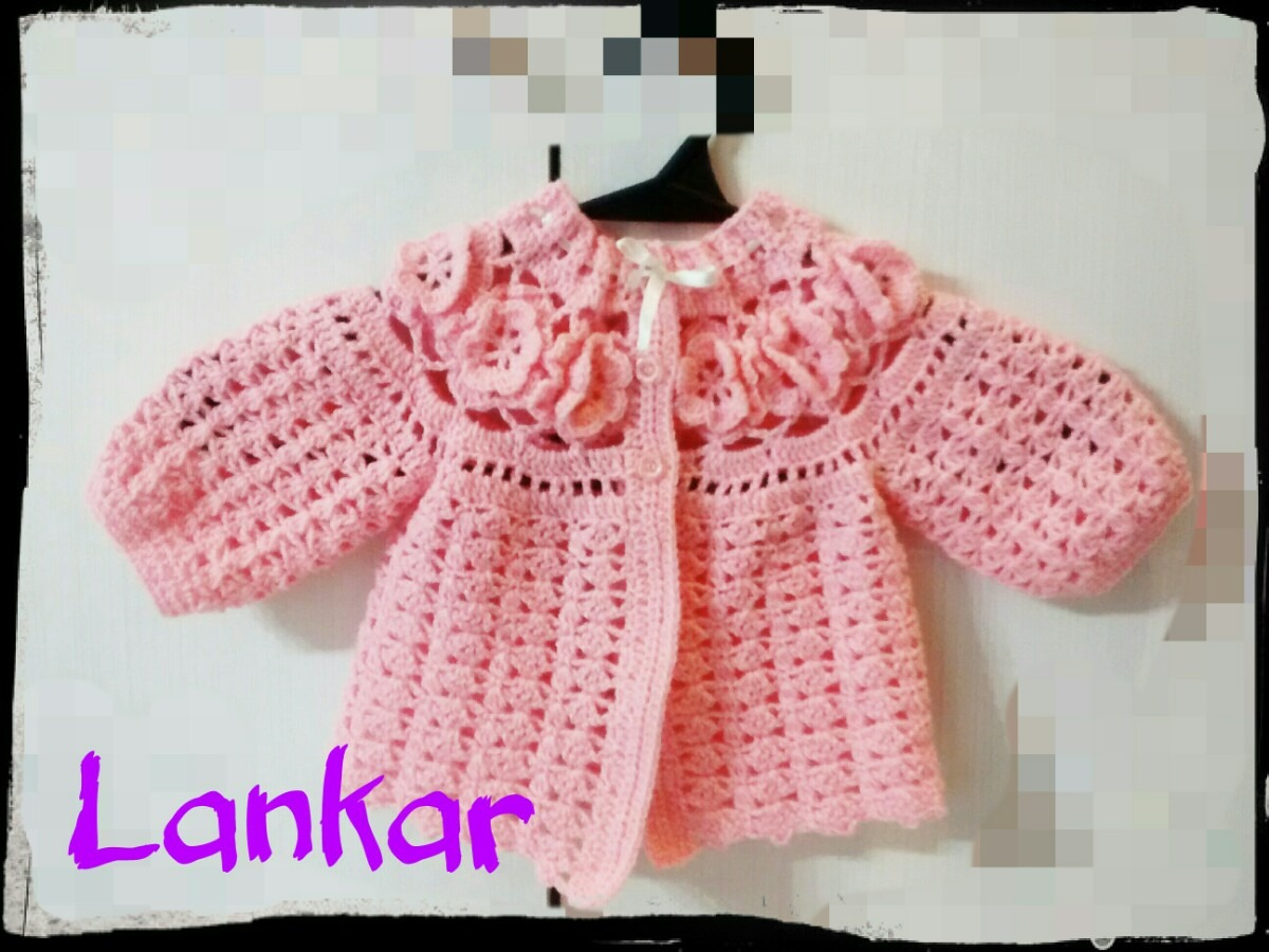 Hermoso Conjunto Crochet Bebe.vestido + Saquito + Escarpines - $ 800 ...