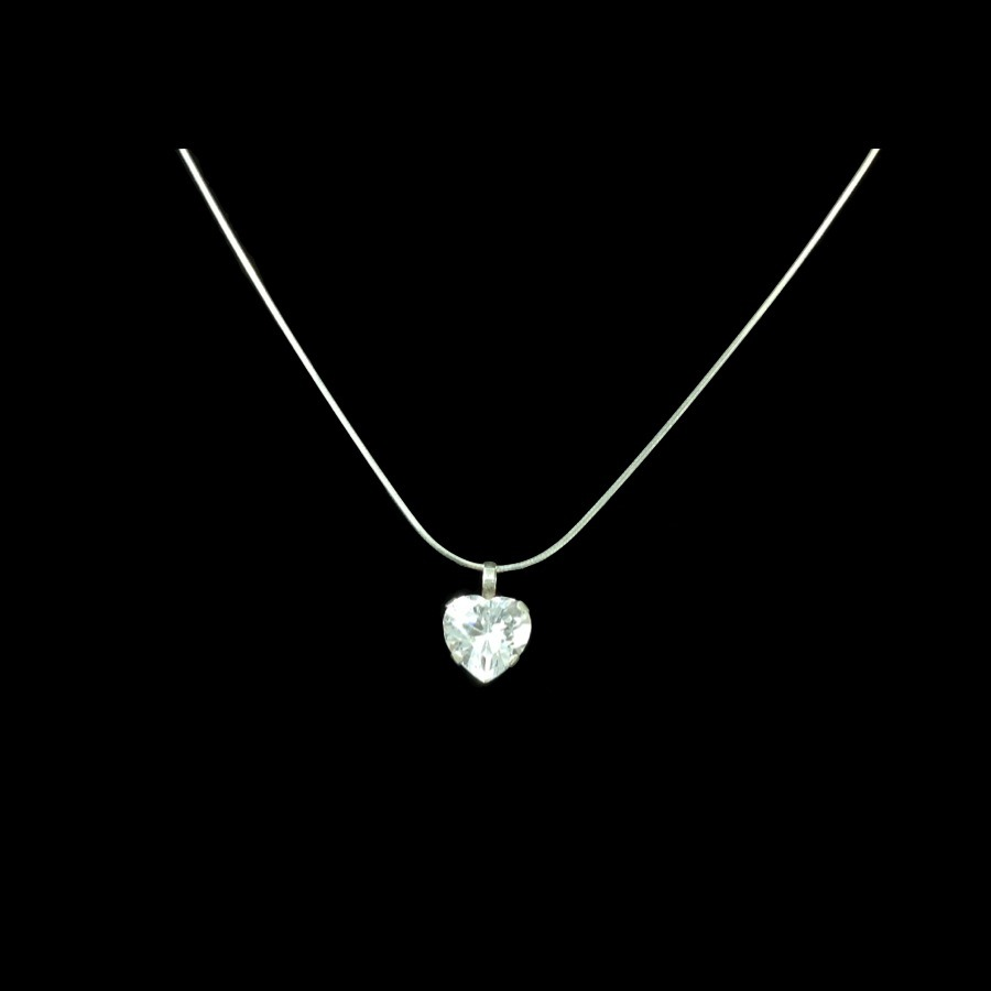 db1dc5948bb8 hermoso corazon zirconia dije + cadena plata amor regalo gbm. Cargando zoom.
