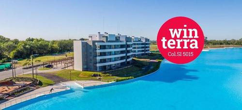 hermoso departamento 2 ambientes con terraza !!   -lagoon pilar