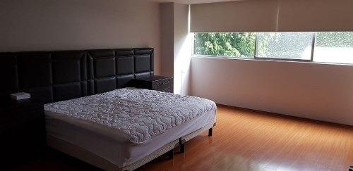 hermoso departamento amueblado en renta de 260 m2. en polanco