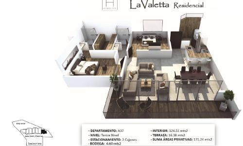 hermoso departamento de lujo con terraza ubicado en valetta dentro de milenio 3