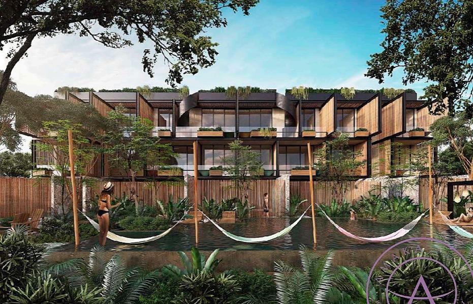 hermoso departamento deck garden pool (2 habitaciones) en amaka tulúm