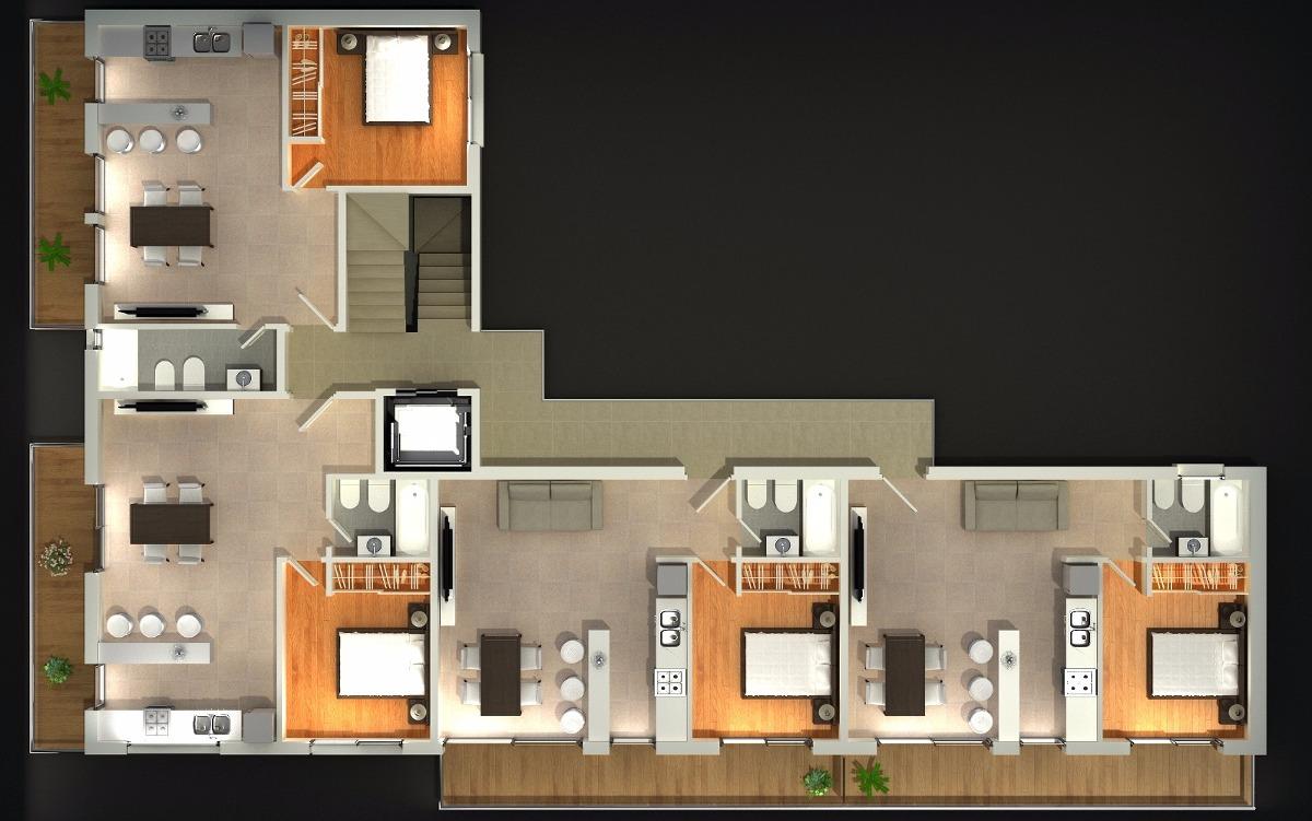 hermoso departamento dos ambientes con balcón