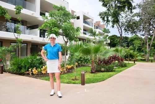 hermoso departamento en fraccionamiento con campo de golf en playa