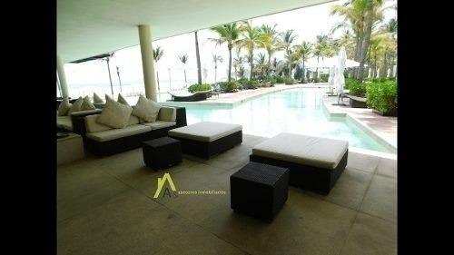 hermoso departamento en magnifico condominio sobre playa con