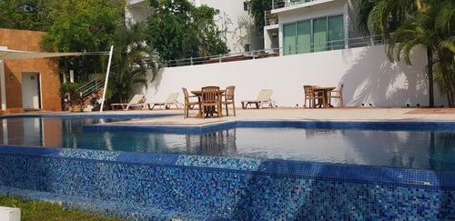 hermoso departamento en playacar fase 2 condominio rioja playa del carmen p3159