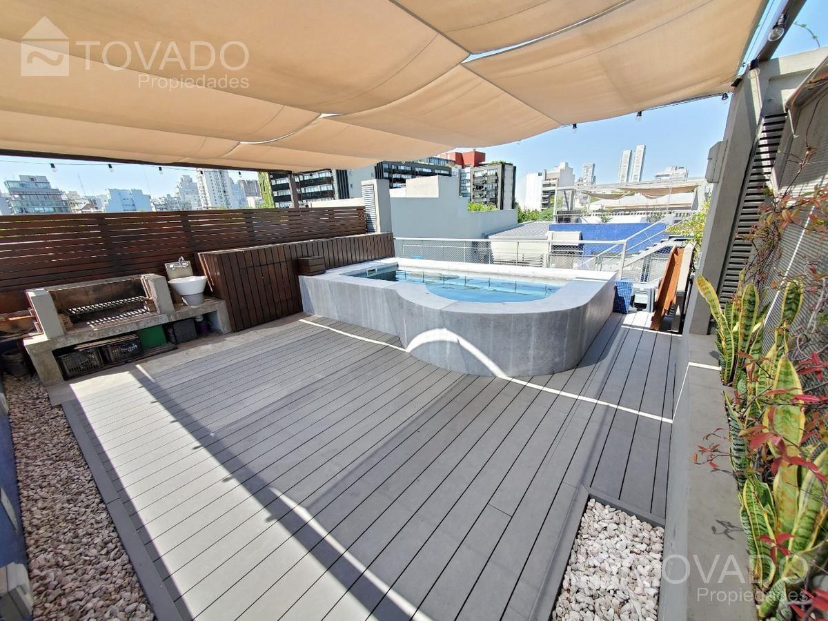 hermoso departamento estilo penthouse con terraza y pileta propias!