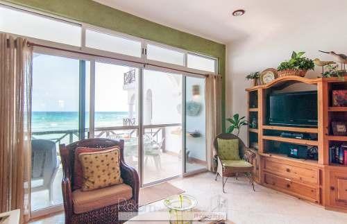 hermoso departamento frente al mar en venta en la bahía de la media luna en akum