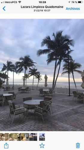 hermoso departamento sobre playa en miami alquiler temporal
