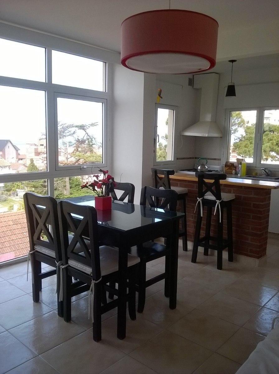 hermoso depto. alquiler villa gesell vista lateral al mar