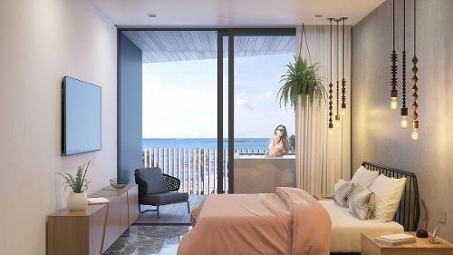 hermoso desarrollo frente el mar en playa del carmen