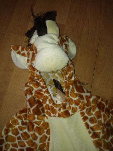 hermoso disfraz de jirafa