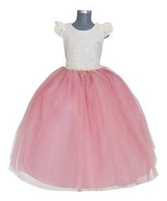 c97f2aae9 Hermoso Elegante Vestido De Fiesta Para Niña
