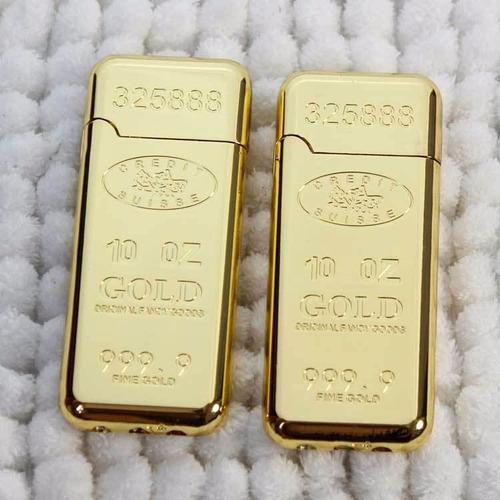 hermoso encendedor gold bar