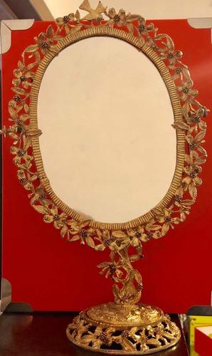 hermoso espejo antiguo chapa de oro casa merlín