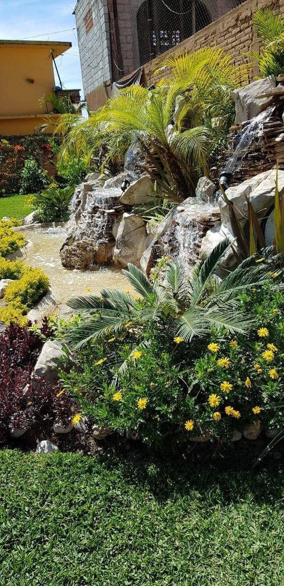 hermoso jardín de eventos en tlayacapan