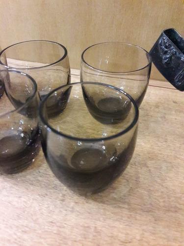 hermoso juego de 6 vasitos de cristal. cód.: #0836