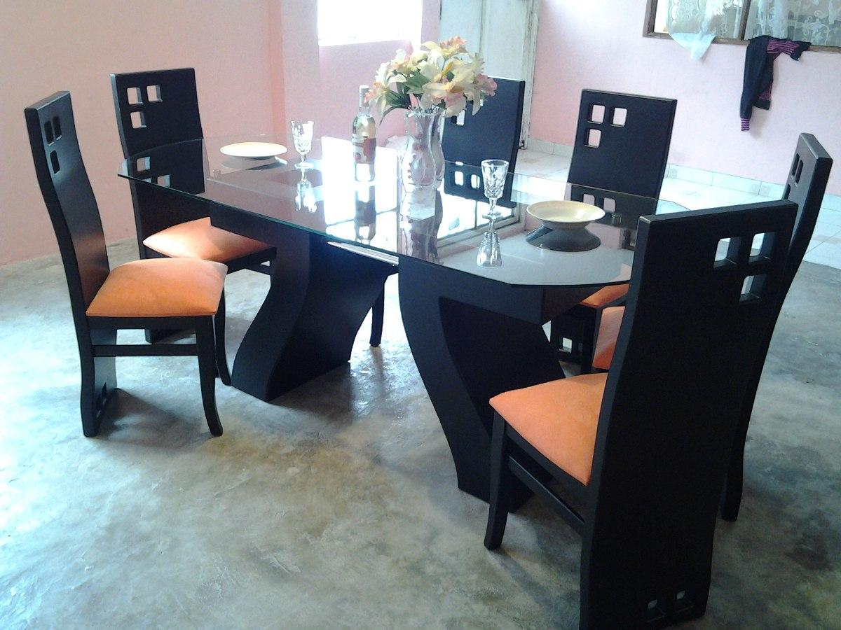 hermoso juego de comedor con mesa de vidrio u s 520 00