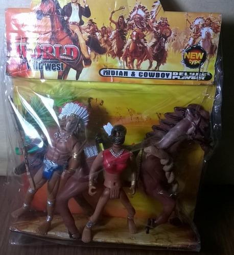 hermoso lote de 2 indios y 1 caballo de buen tamaño