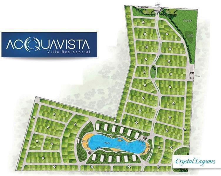 hermoso lote de 530 m2 en acquavista villa residencial