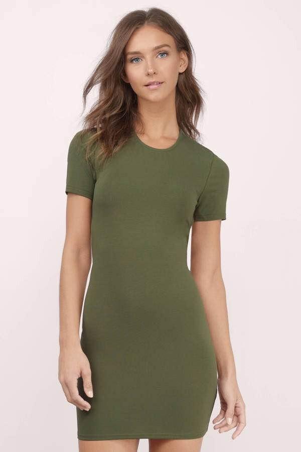 Vestido verde militar de noche