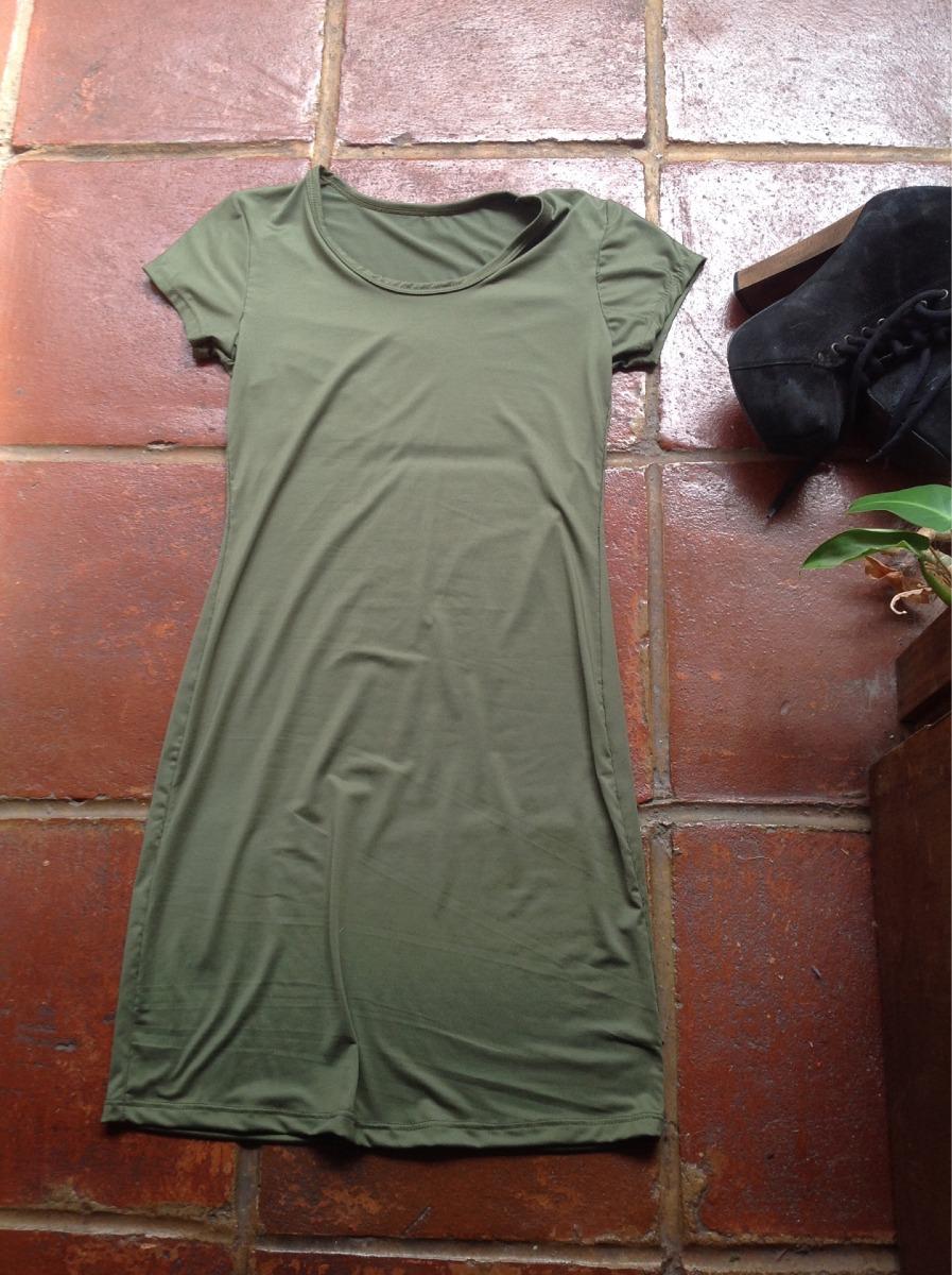 bee758b8397a5 hermoso mini vestido verde militar tubo tipo forever 21. Cargando zoom.