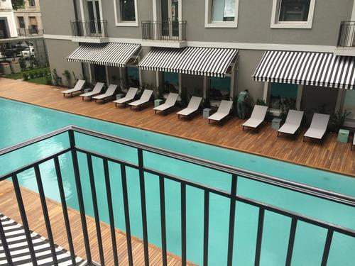 hermoso monoambiente, piso 16 de 47m2, con balcón, amoblado y totalmente equipado en puerto madero