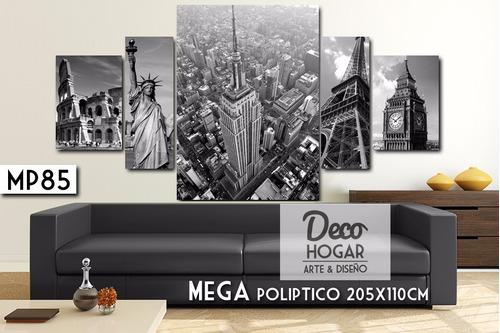 hermoso! poliptico 205x110 - cuadro decorativo moderno
