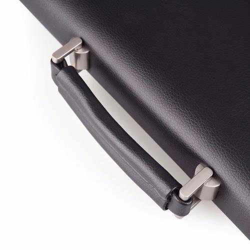 hermoso portafolio negro imitación piel s-zone messenger bag