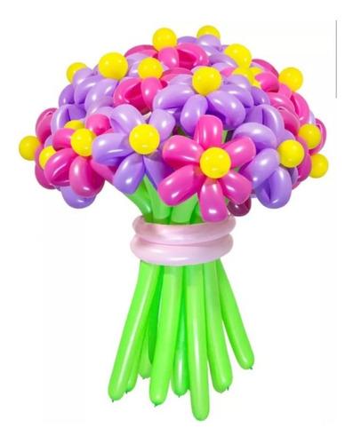 hermoso ramillete de flores finamente elaborado con globos