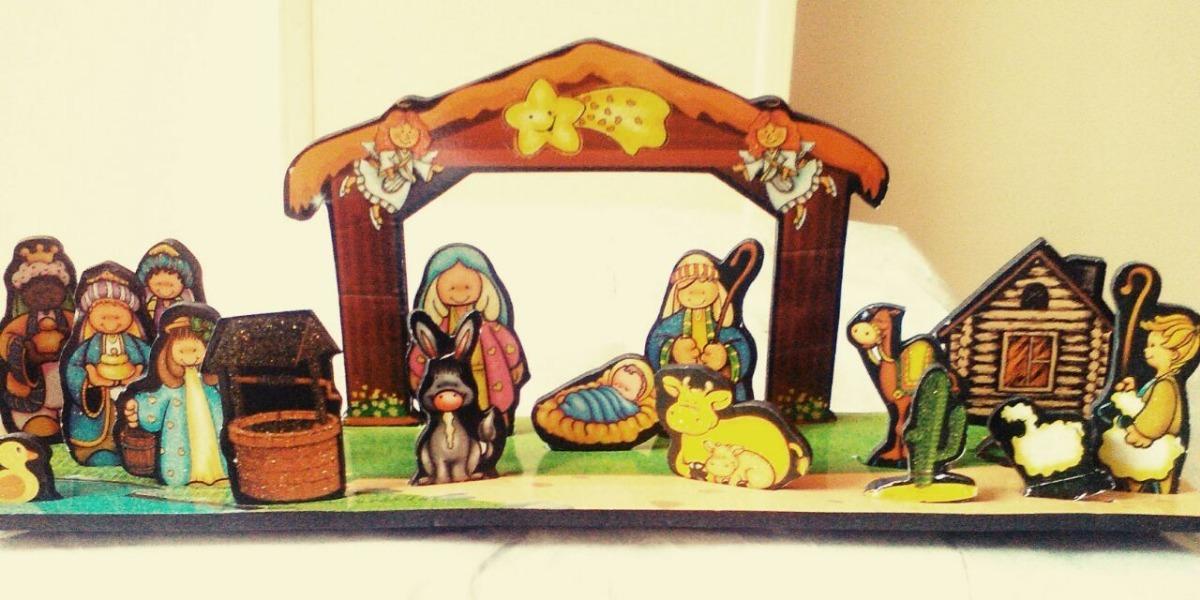 Hermoso Regalo De Navidad - Pesebre Imán, 2 En 1 - 18 Pieza ...