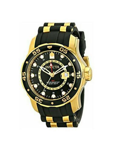 hermoso reloj invicta 48mm chapado en oro de 18k envio