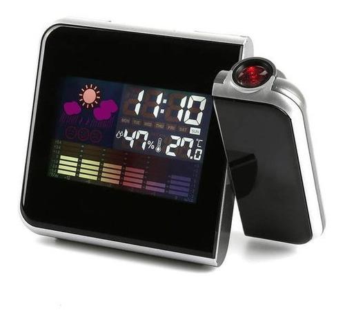 hermoso reloj led de mesa con proyector