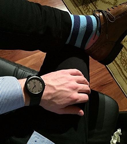 hermoso reloj madera hecho a mano ecológico cuarzo analógico