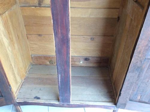 hermoso ropero de madera original antiguo años 1900-1920s