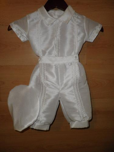 hermoso ropon bautizo shantu blanco para bautismo 6503