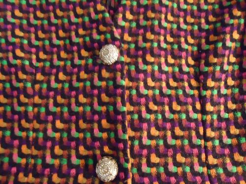 hermoso saco diseño colorido talla mediano