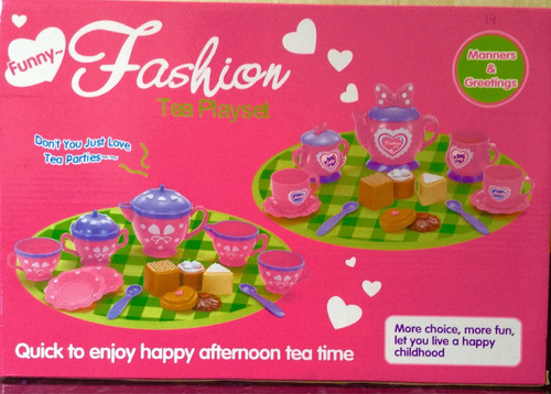hermoso set de taza de juguete para niñas