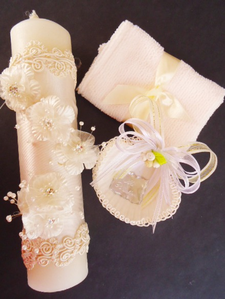 Como hacer un repujado para velas de bautizo mis - Velas decoradas para bautizo ...