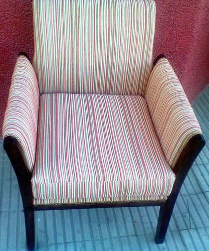 hermoso  sillon art deco tapizado chenill  estilo funes