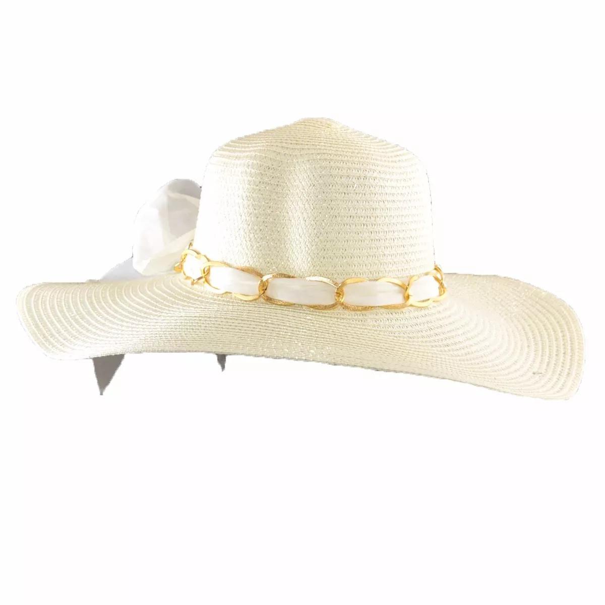 Hermoso Sombrero Capelina Pamela Para Mujer Ala Larga -   299.00 en ... 02704818c5f