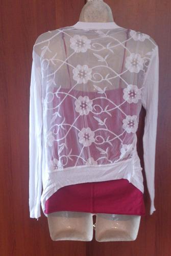 hermoso sweater blanco m  de moda remato!!!