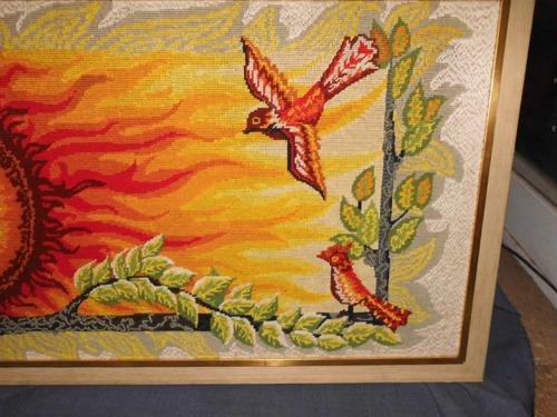 hermoso tapiz  hecho a mano
