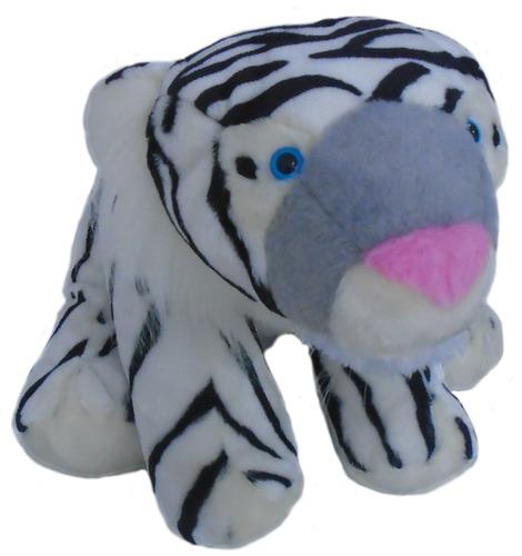hermoso tigre blanco siberiano de peluche 81cm entrega ya!!!